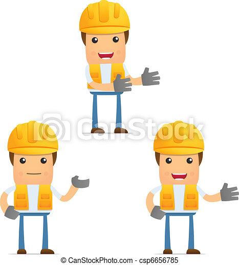 set of funny cartoon builder - csp6656785