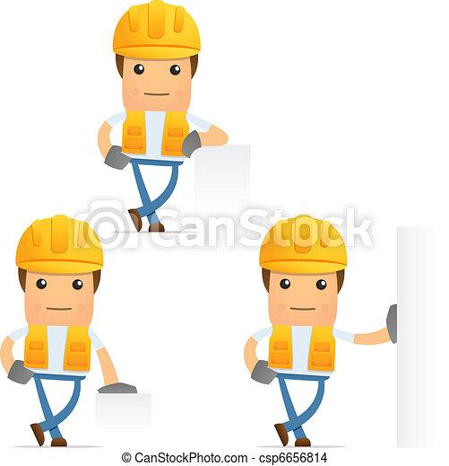 set of funny cartoon builder - csp6656814