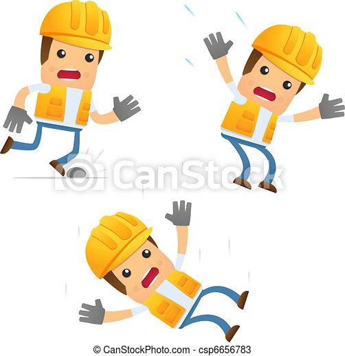 set of funny cartoon builder - csp6656783