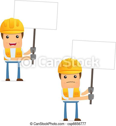 set of funny cartoon builder - csp6656777