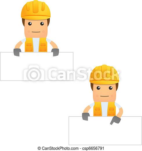 set of funny cartoon builder - csp6656791