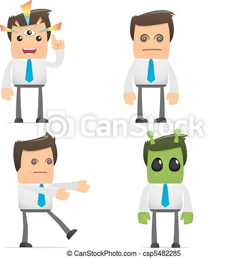 set of funny cartoon manager - csp5482285
