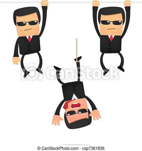 set of funny cartoon security - csp7361836