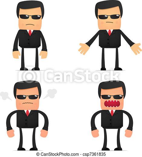set of funny cartoon security - csp7361835