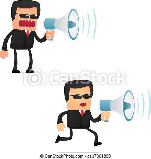 set of funny cartoon security - csp7361838