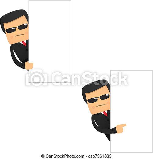 set of funny cartoon security - csp7361833