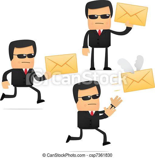 set of funny cartoon security - csp7361830