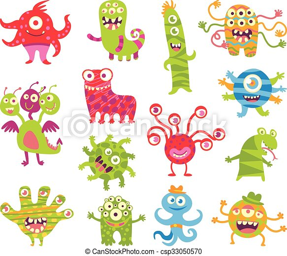 Set of funny little monsters - csp33050570