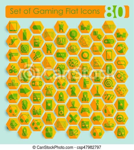 Set of game icons - csp47982797