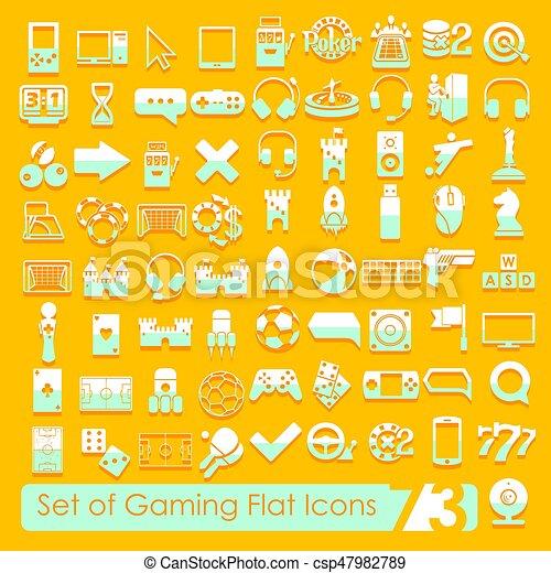 Set of game icons - csp47982789