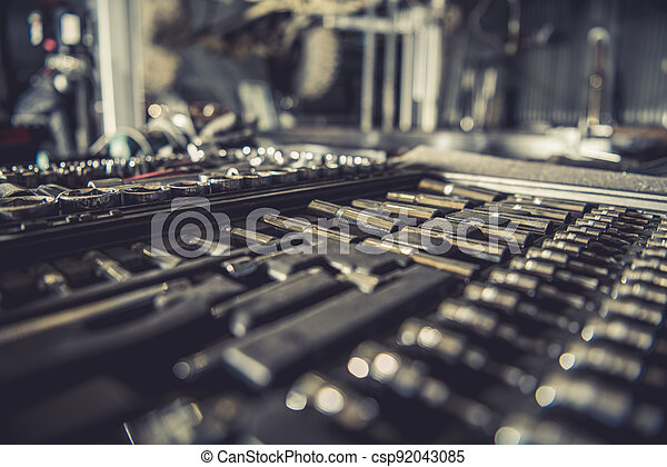 Set of Garage Tools - csp92043085