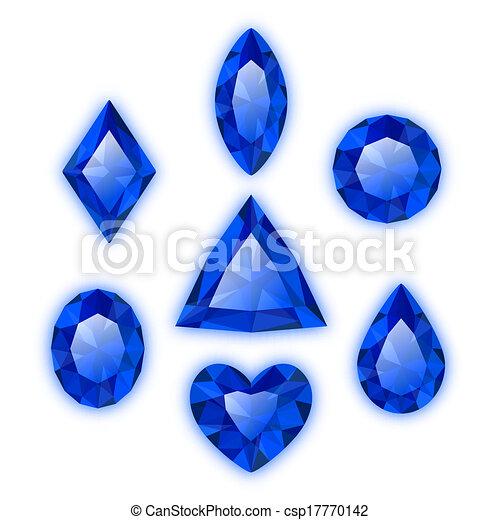 Set of gems isolated on white - csp17770142