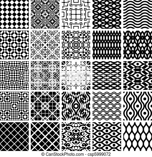 Set of geometric seamles patterns. - csp5999072