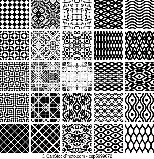 Set of geometric seamles patterns. - csp5999072