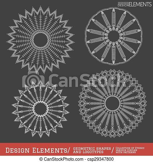 Set of geometric shapes. - csp29347800