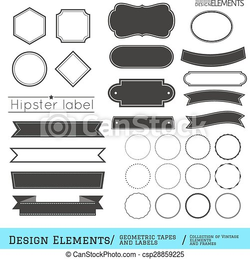 Set of geometric tapes and labels332-01 - csp28859225