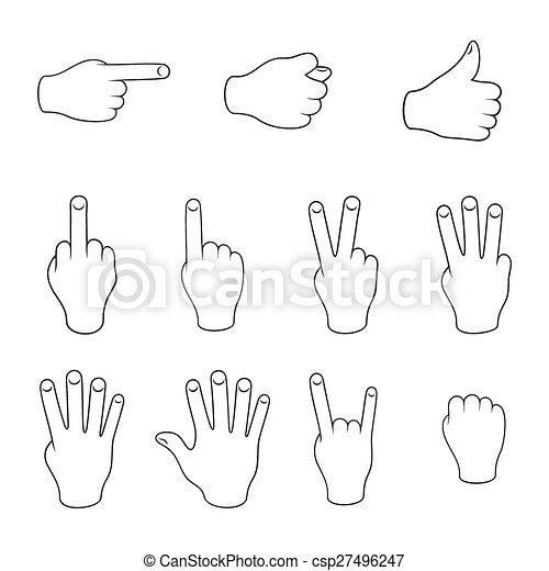 Set of gestures - csp27496247