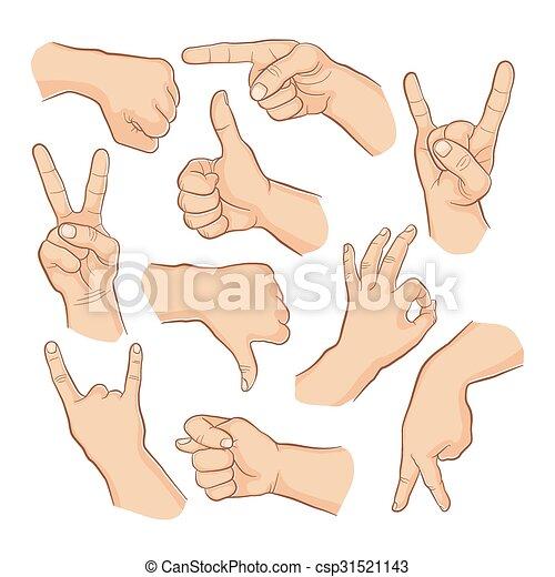 Set of gestures - csp31521143