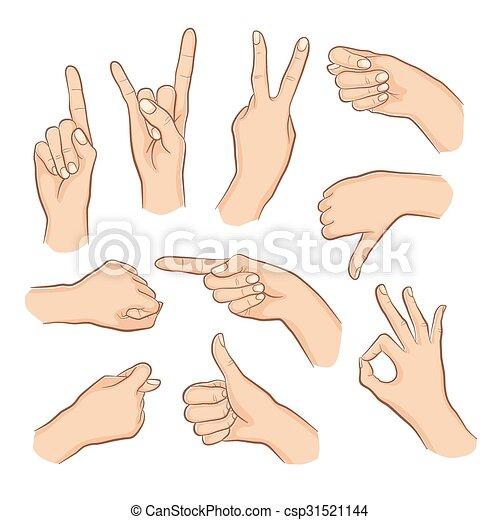 Set of gestures - csp31521144