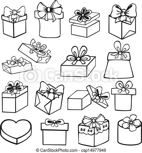 Set Of Gift Boxes Set Of Painted Black And White Gift Boxes With