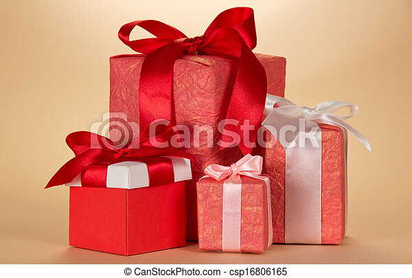 Set of gift boxes various forms - csp16806165