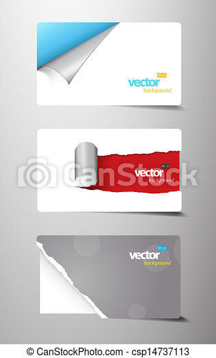 Set of gift cards with rolled corners.  - csp14737113