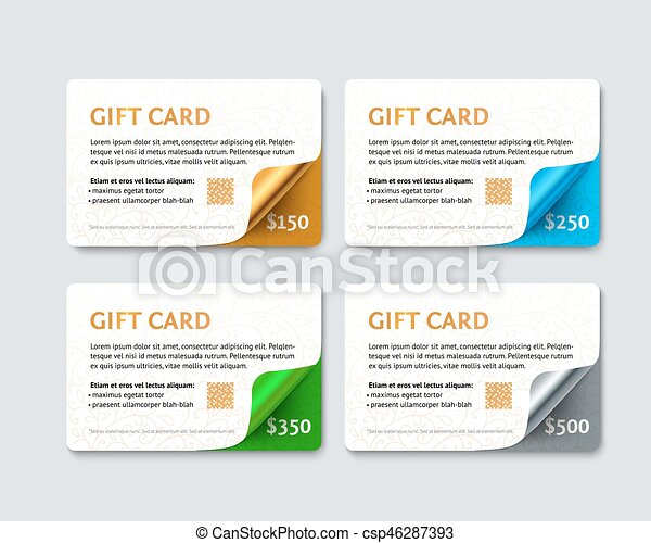 Set of gift discount cards - csp46287393