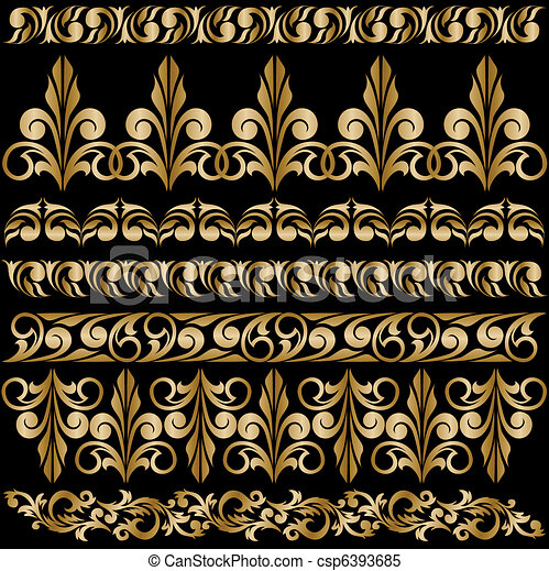 set of gilt ornaments - csp6393685