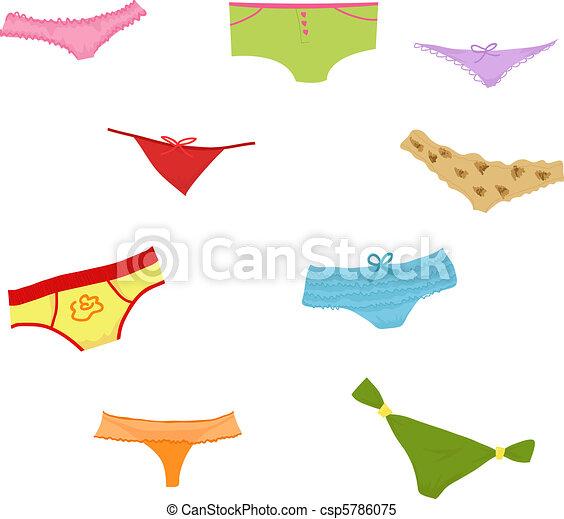 Set of girl panties - csp5786075