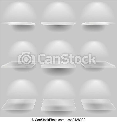 Set of glass shelves - csp9428992
