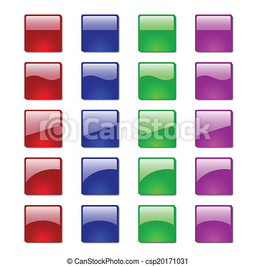 Set of glossy button icons - csp20171031