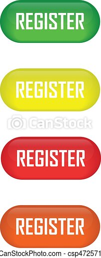 Set of glossy button register icons for your design - csp47257192