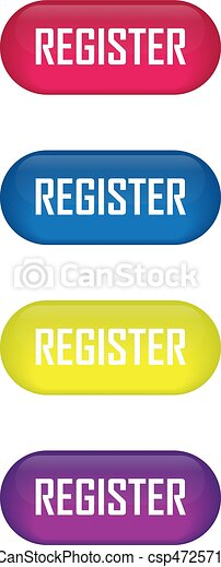Set of glossy button register icons for your design - csp47257109