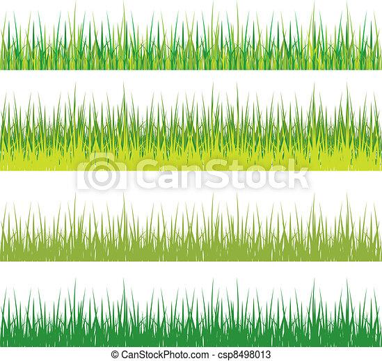 set of grass - csp8498013
