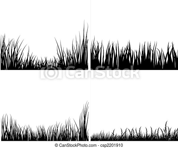 set of grass silhouettes - csp2201910