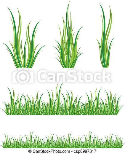 set of green grass - csp8997817