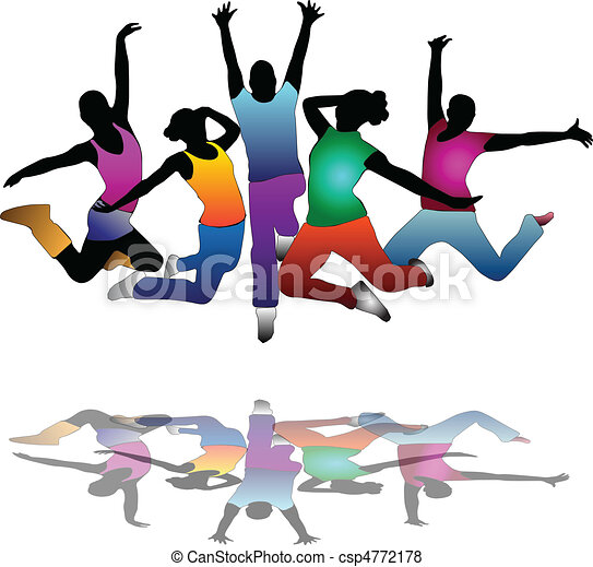 set of group peoples dance flyer set of group peoples vector rh canstockphoto com Black People Dancing Clip Art People Dancing Clip Art