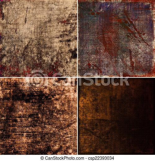 set of grunge background - csp22393034