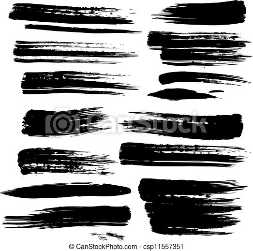 set of grunge brush strokes rh canstockphoto com Brushstroke Dove Clip Art brush stroke clipart