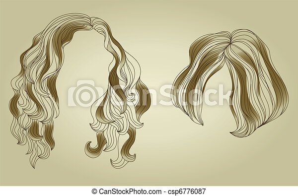 Set of hair styling for woman - csp6776087