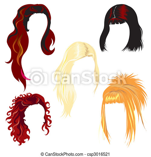 Set of hair styling - csp3016521