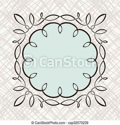 Set of hand draw calligraphic floral design elements - csp32070239