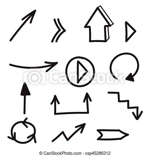 hand drawn arrow vectors free clipart vector labs