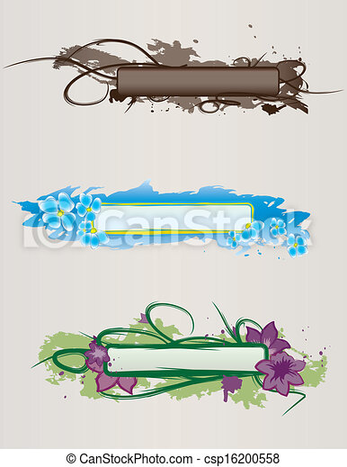 Set of hand drawn banners - csp16200558