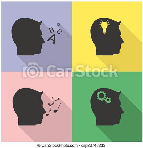 set of head icons - csp28748233