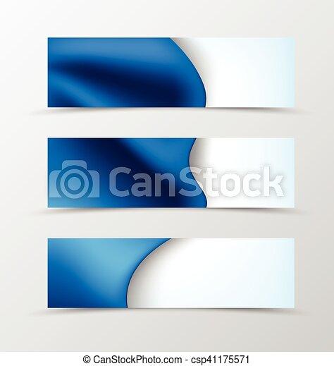 Set of header banner dynamic wave design - csp41175571