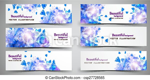 Set of headers abstract - csp27728565