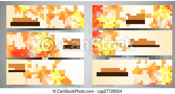 Set of headers abstract - csp27728554