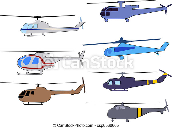 set of helicopters - csp6568665