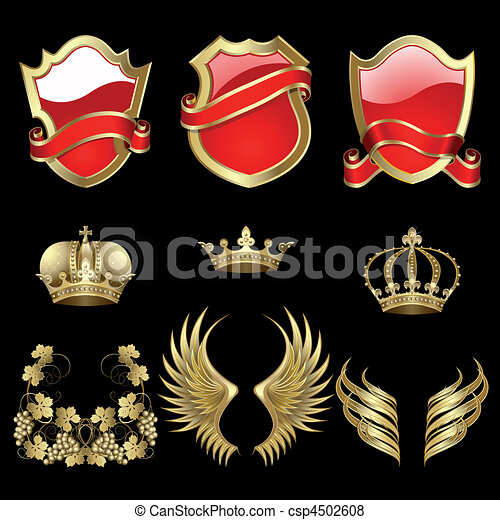 Set of heraldic elements - csp4502608